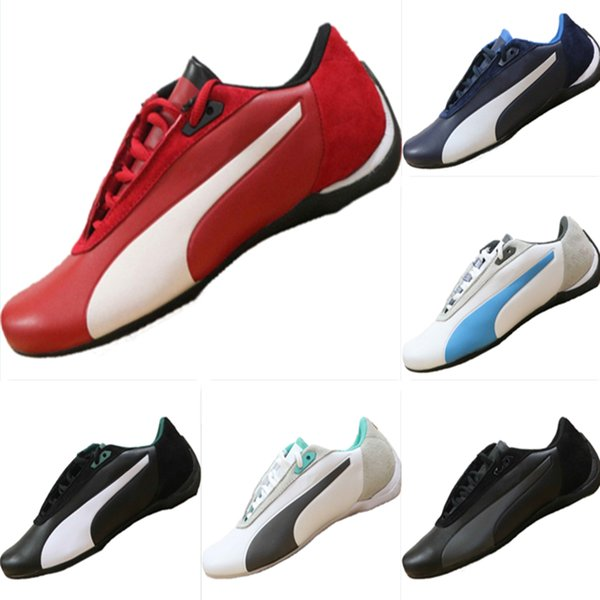 With Box 2019 Future Cat SF All Leather Splicing Motorsport Shoes AMG Petronas Formula One Team Mix RB Casual Kart Sneakers