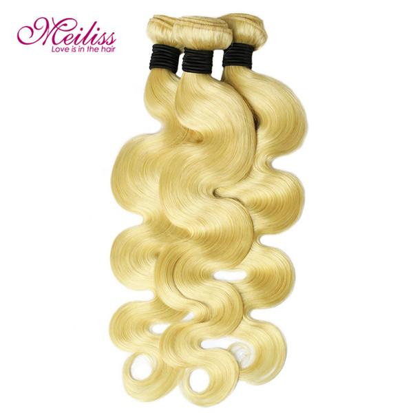 Toptan renkli renk örnekleri manikür hizalanmış saç atkı sarışın # 613 vücut dalga virgin İnsan saç atkı wige