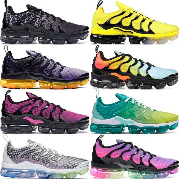 top popular Plus TN Designer Men Women Sneakers Hyper Blue Sunset Game Royal Ultra White Black Be True Best TN Trainers Sport Running Shoes 36-45 2019