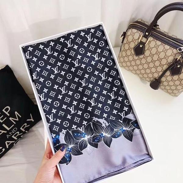 lenço de seda de verão é projetado especialmente para marcas femininas masculinas. Moda feminina lenços de cashmere falso são 180x90 cm livre de transporte