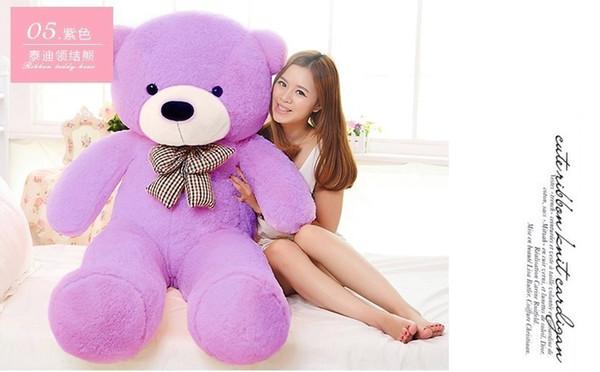 Große Größe 60 cm 80 cm 100 cm 120 cm Gefüllte Riesen Teddybär Plüschtier Große Umarmung Kinder Puppe Liebhaber / Weihnachtsgeschenke Geburtstagsgeschenk