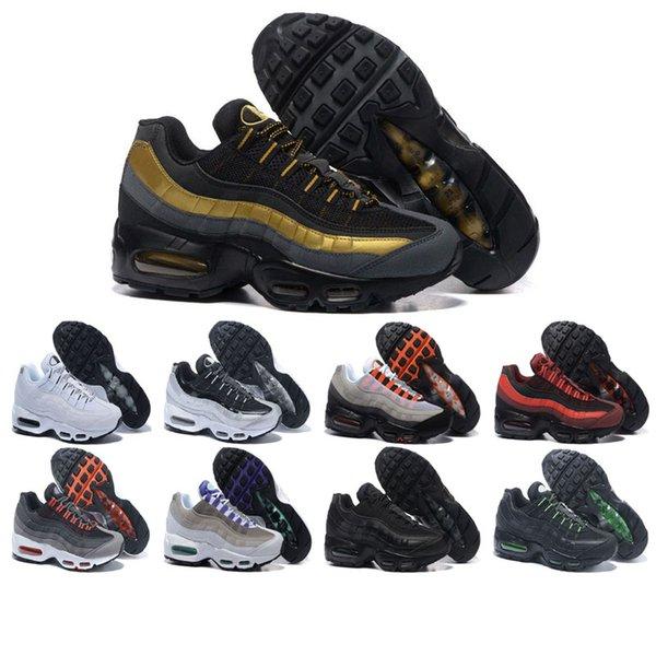 Compre Nike Air Max 95 Shoes Venta Shoescaliente Zapatillas De Deporte De Los Hombres Zapatillas De Deporte Negro Amarillo Hombres Mujeres Zapatos