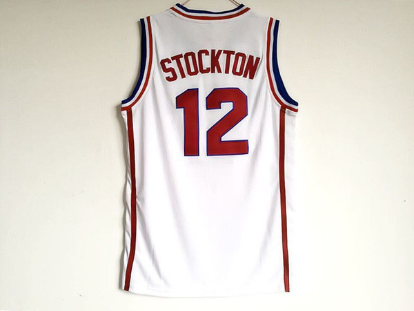Barato personalizado John Stockton # 12 Gonzaga Bulldogs Colégio Basquete Ponto personalizar qualquer nome de número HOMENS MULHERES DA JUVENTUDE XS-5XL