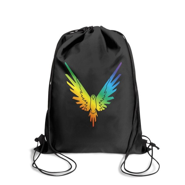 Drawstring Sports Backpack Logan Paul Online video Rainbow colorfashion durable sports Pull String Backpack