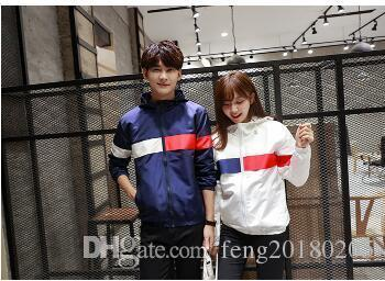 Wholesale- 2019 New Pattern Korean Style Plus Size 3xl Women Men Jackets For Lovers Harajuku Hip Hop Hooded Jackets For Teenagers