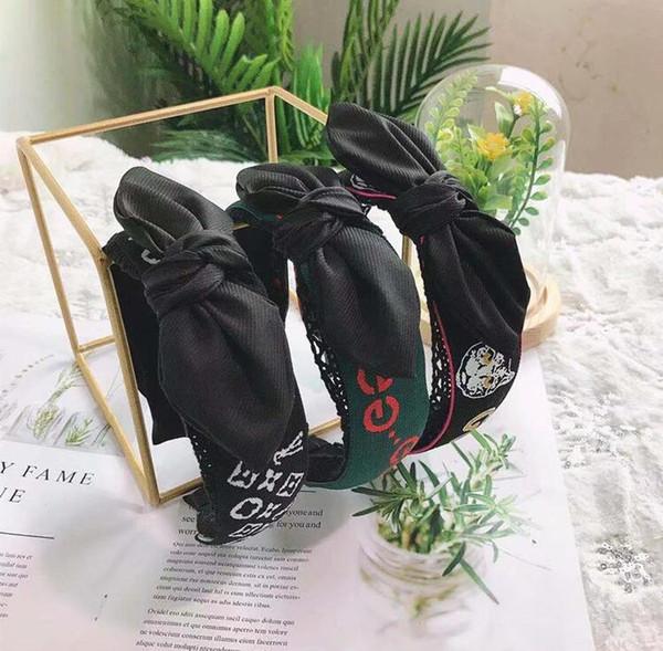 2020 Корейский моды Аксессуары для волос маркировочного ленты шнурка Rabbit Ears Bow оголовье Свежие и смазливая Wide кромочная лента для волос
