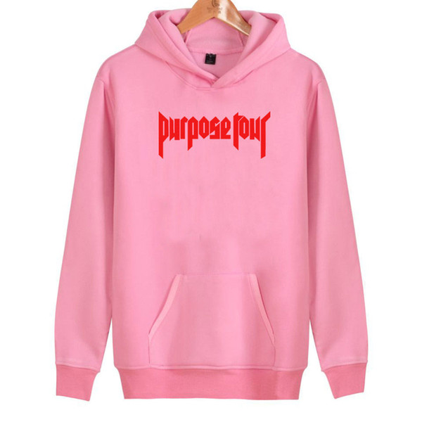 2019 Justin Bieber Hoodies Women/men Pink Cotton High Quality Harajuku Justin Bieber Women's Hoodies And Sweatshirt Clothes