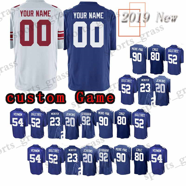 size 40 f8ecc f32d0 Custom Game New York Jerseys 23 Corey Webster Gaint 98 Damon Harrison 24  Eli Apple 88 Evan Engram 20 Janoris Jenkins 90 Pierre Paul Jersey UK 2019  ...