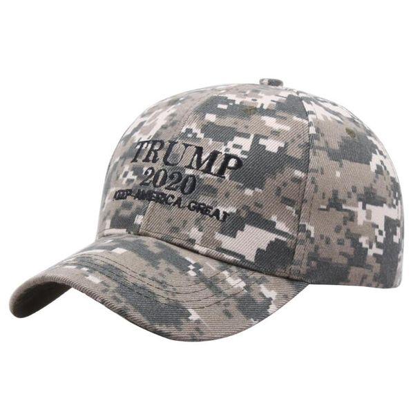 Sombrero de béisbol Trump 2020 Camo Keep America Great Again Sombreros del Snapback Sombrero casual Trump al aire libre Snapback LJJO7075