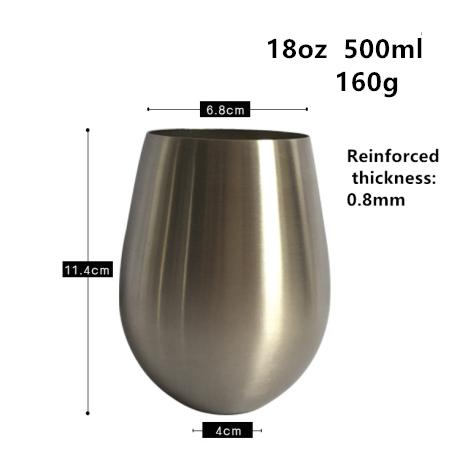 17oz 500ml water drop silver
