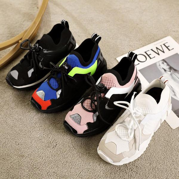 Yeni 2019 Erkekler ÇOK RENKLI KARIŞIK-MALZEME Sneakers Bayan SORRENTO TREKKING SNEAKERS Lüks Erkek Tasarımcı Ayakkabı marka kadın Rahat ayakkabılar