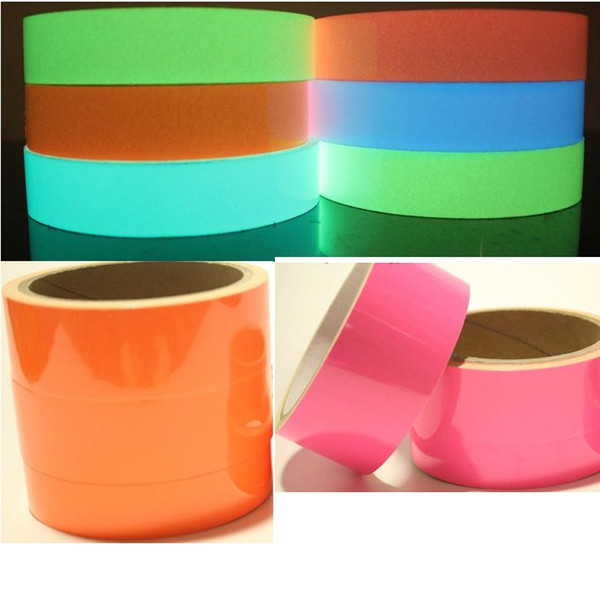 best selling 5CM*5M Luminous Tape Self-adhesive Warning Strip Night Vision Glowing In Dark Safety Security Home Decoration Tapes