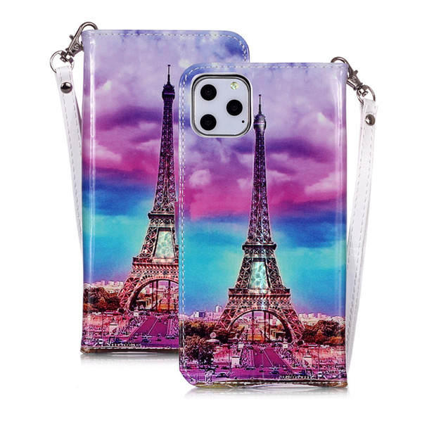 2019 New It Is Suitable For Iphone11/11Pro/11Pro Max The New Magic Color 3D Bright Card And Rope Leather Case