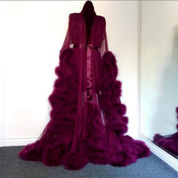 Sexy Ladies ropa interior transparente de la ropa de noche de las mujeres ropa de dormir de la muñeca de la felpa del traje exagerada Wrap ver a través de pijamas