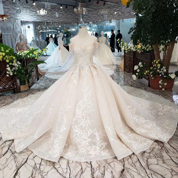 2019 más nuevo Boho borla cariño cuello vestidos de novia de manga corta con cordones en la espalda de alta calidad 3D floral apliques de lentejuelas jardín vestido de novia
