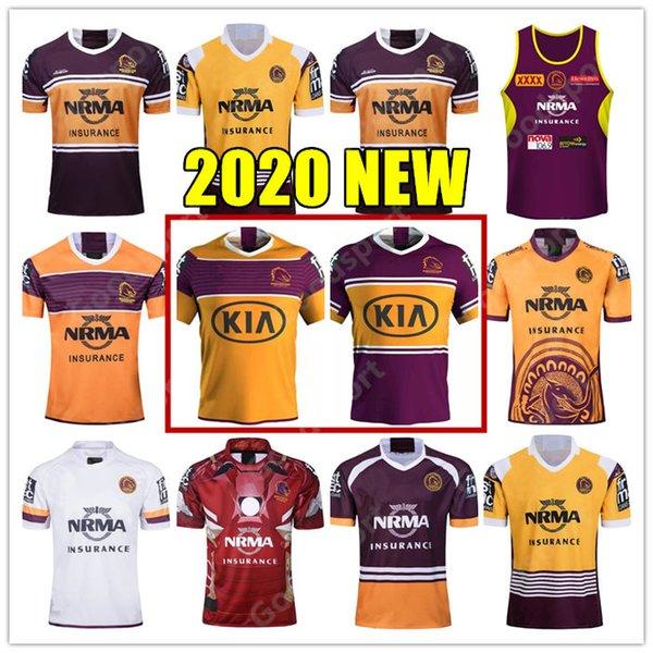 top popular 2020 NEW Brisbane Broncos Rugby Jersey Brisbane Anzac 2020 Men Indigenous Jerseys Rugby Jersey Darius Boyd McCullough Ben Hunt 2020