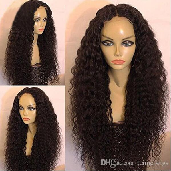 Black Curly Wigs for Black Women Long Kinky Curly Synthetic Wig Heat Resistant Cheap African American Wigs Black Afro Curly Hair