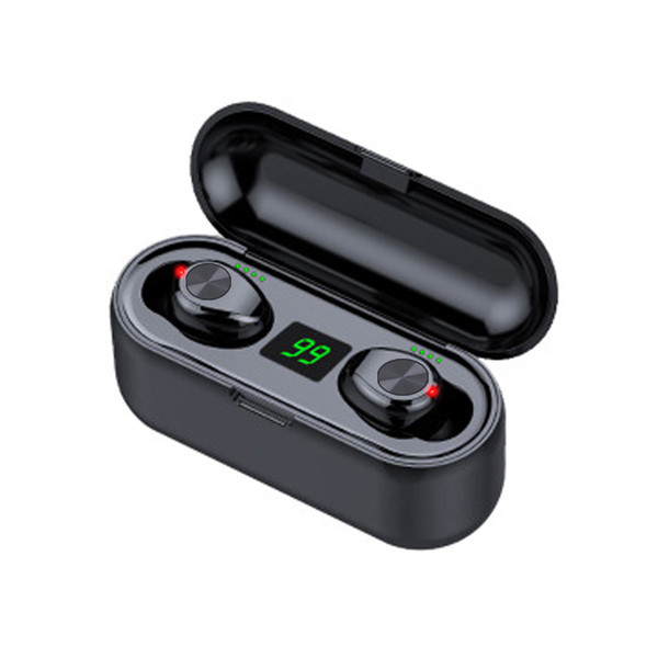 best selling Touch style Button style Wireless Earphone Bluetooth V5.0 F9 TWS Headphone LED Display With 2000mAh Power Bank Headset With Microphone