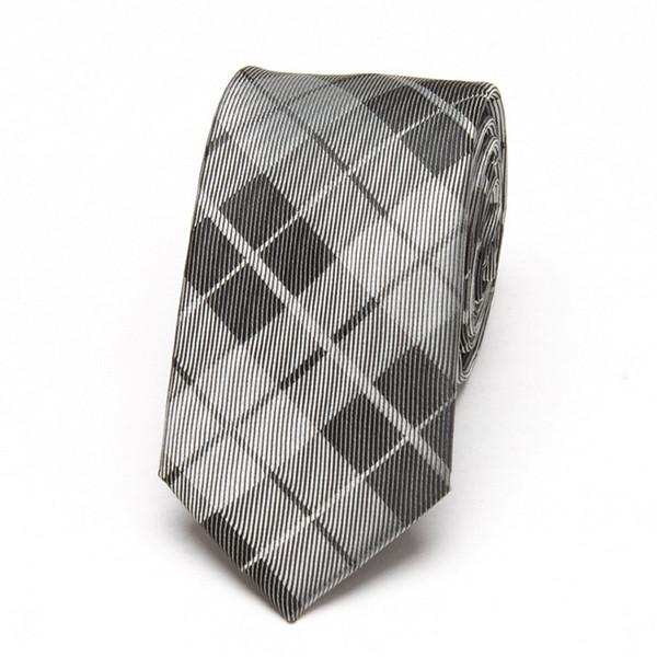 Novos Homens Gravatas Xadrez moda Casamento negócios lazer poliéster Skinny Mens Laços 6 cm de largura Slim Neck Tie xgvokh marca