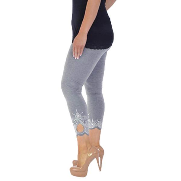 KLV Women Yoga Print Workout Mid Waist fitness clothes for women Pants Fitness Elastic Leggings #@%