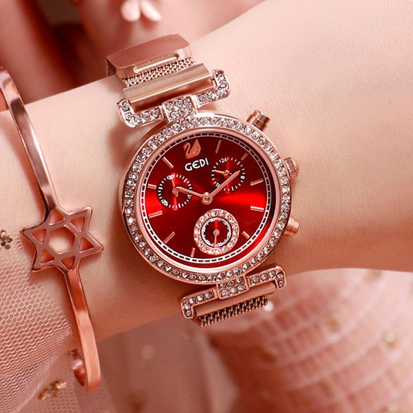 oro rosa + cara roja