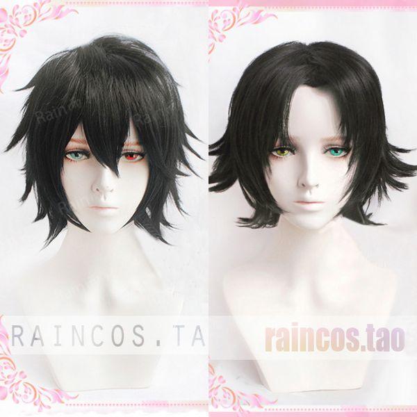 Division Rap Battle Hypnosis MIC Yamada Ichiro Yamada Nirou Short Black  Heat Resistant Hair Cosplay Costume Wig + Wig Cap Order Cosplay Costumes