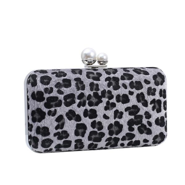 Pochette motif léopard femmes Soirée Femme Embrayages chaînette Sacs à bandoulière haute couture Sacs à main pour les dames embrayages