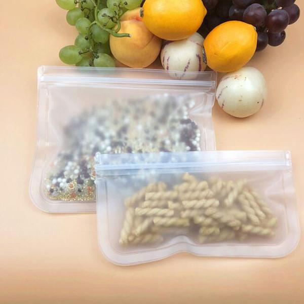 Sachet rescellable de sac de sandwich pour le déjeuner casse-croûte de maquillage sacs réutilisables de stockage de nourriture sacs ziplock étanches ZC1236
