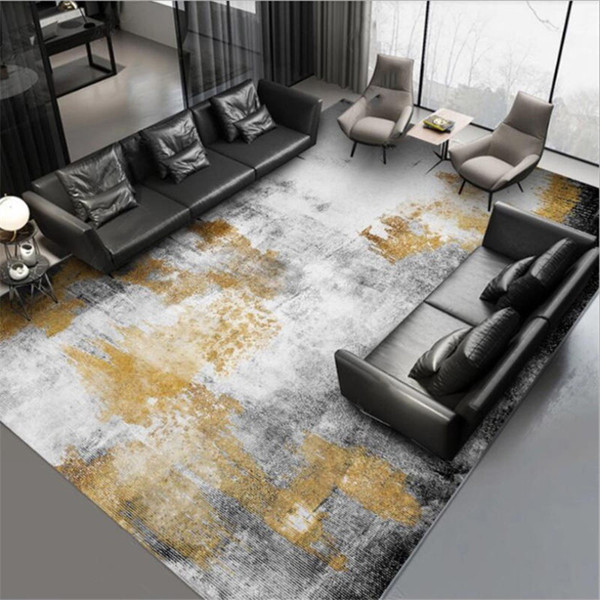 Carpets For Living Room Abstract Black Gray Gold Ink Pattern Carpet Bedroom Carpet Christmas Rug Grey Modern Home Decor Buy At The Price Of 98 66 In Dhgate Com Imall Com