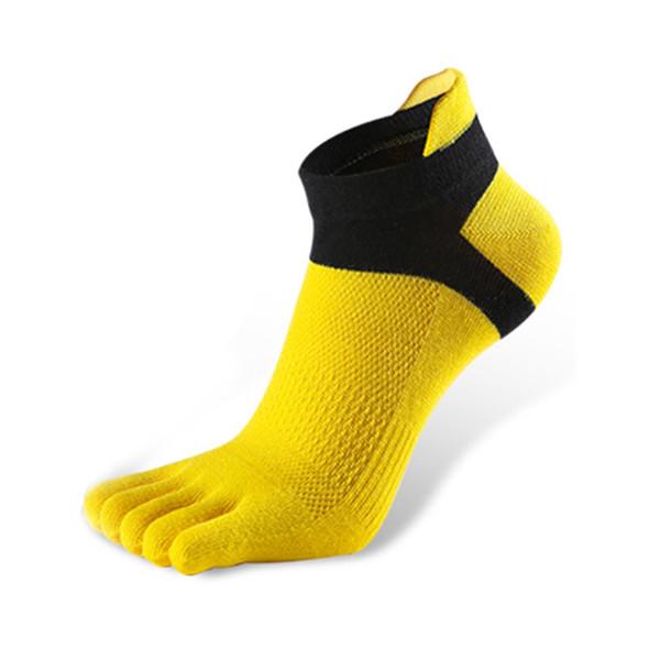 1 paire de chaussettes pour hommes Chaussettes de sport en coton pur Chaussettes à cinq doigts