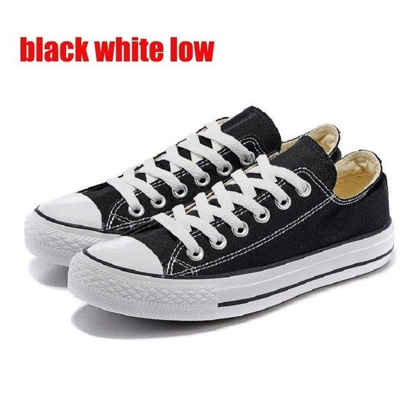 black white low