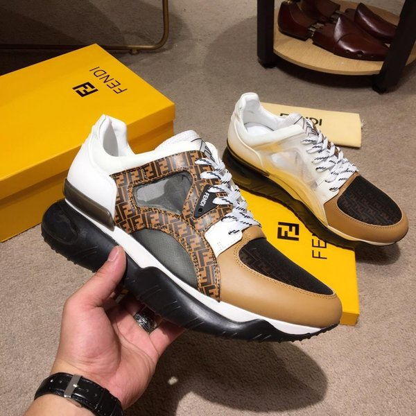 best selling 2019g limited edition men's luxury leather low-top casual shoes, high-quality fashion wild sports men's shoes, original box packaging