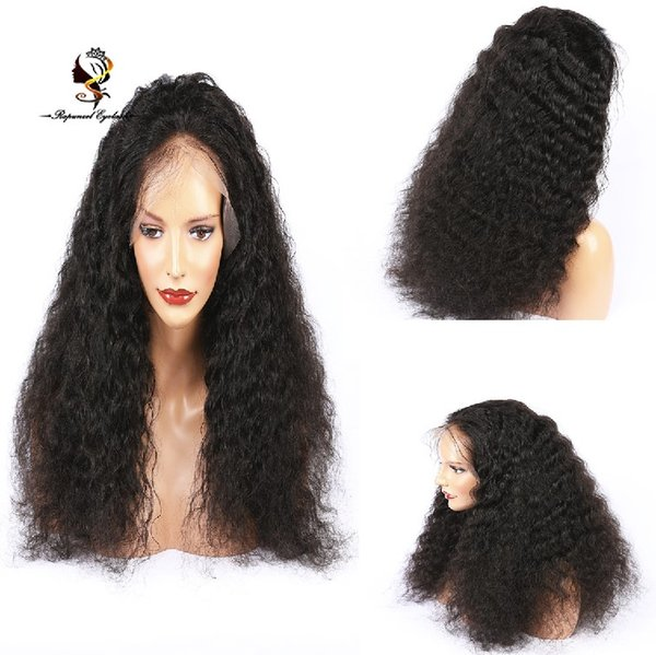 Kinky curl wig Pre Plucked full lace natural hairline curly brazilian 100% human hair wigs