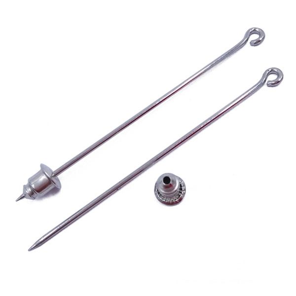 Platin 1000piece 50mm 60mm 70mm Sharp End Hijab Pins Brosche Pins mit Kugelrücken Stick Pin Revers Pin Clutch JZJZ004