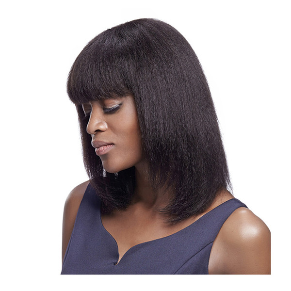 Women Black Short Wavy Curly High Temperature Fiber Full Lace Wig Hair Synthetic Cosplay CostumeLace Front Wig