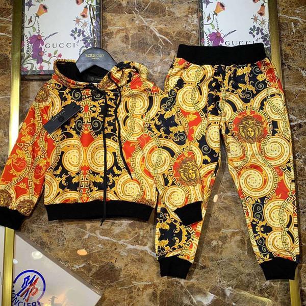 Büyük Erkek Çocuklar Giyim 2019 çocuk Konfeksiyon Yaz Çocuk Takım Elbise Twinset Kız Boş Zaman Giysileri Ve Pantolon Bebek Seti 0719