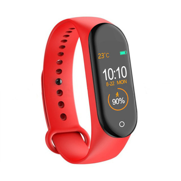 New M4 Fitness Smart Sport Bracelet Blood Pressure Heart Rate Monitor Colorful Touch Screen Smart Band Wristband Step Counter