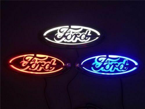 top popular 5D LED Car Tail Logo Light for Ford Focus Mondeo Kuga Auto Badge Light 2021