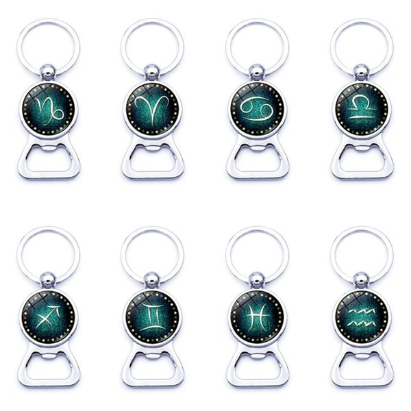 12 Takımyıldızı Anahtarlık Burcu Takımyıldızı Şişe Açacağı Anahtarlık Anahtarlık Anahtarlık Tasarımcı Anahtarlık Moda Aksesuarları Bırak Gemi 340115