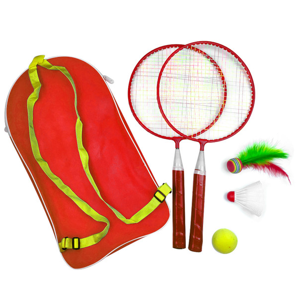 1 Set Outdoor Sports With Backpack With Shuttlecock Child Sport Kid Baby Badminton Tennis Set Outdoor Games Badminton Racket