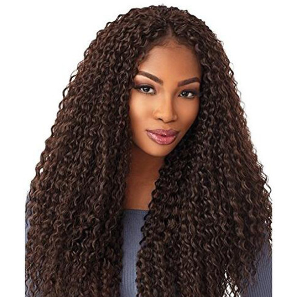 Hot! 1Pcs Water Wave Synthetic Hair Bundles Crochet Braiding Hair Extensions Afro Kinky Twist Braids Dreadlocks Faxu Locs for Black Women