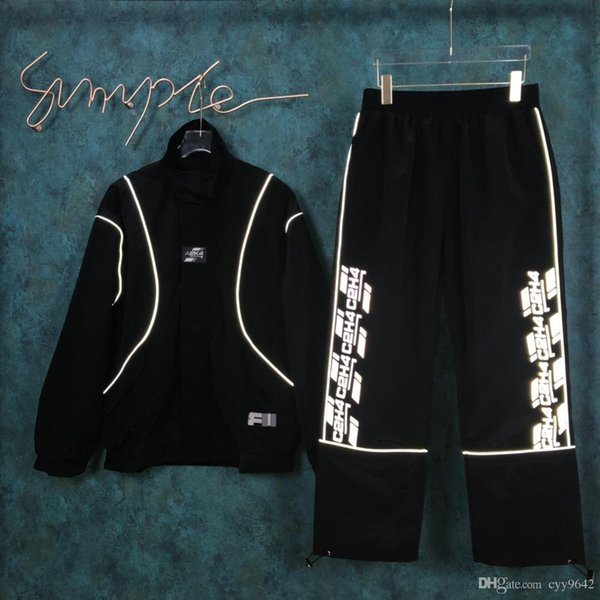 New Autumn Sports Suit with irregular running pants, hoodies, zipper and belt trousers for men and women 0237