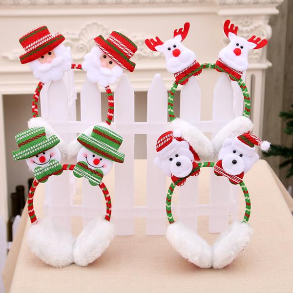 Warm Cute Hair Band Xmas Christmas Gift Santa Claus Snowman Elk Ribbon Hair Accessory Decoration Home Party Head Hoop New Years