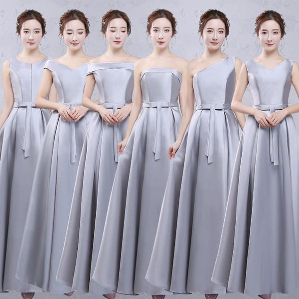 Sólido sexy mulheres comprimento total dress magro cetim cheongsam brdisemaid casamento robe vestidos vestidos elegante festa à noite qipao s-xxl