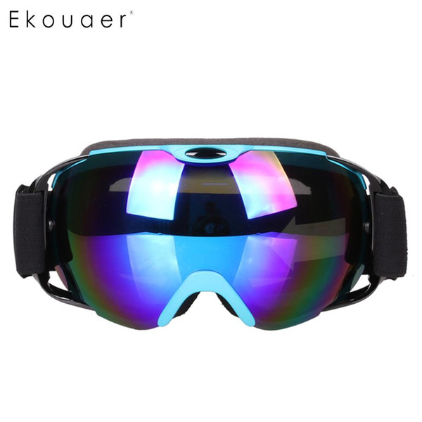 New Ski Goggles Glasses Snow Skiing Eyewear Double-Layer Snowboarding Anti-Fog PC Lenses TPU UV Frame Spectacles Men Women