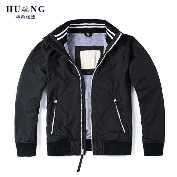 1122aa6519f 2019 Eurooopean стильные модные куртки мужчины весна осень бомбардировщик  хлопок пальто Марка олень куртка мужской повседневная