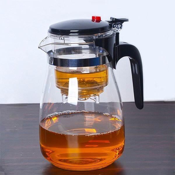 top popular Heat Resistant Glass Teapot With Infuser Filter Chinese Kung Fu Puer Oolong Tea Teapot 500Ml Kamjove Tea Pot Water Kettle 2021