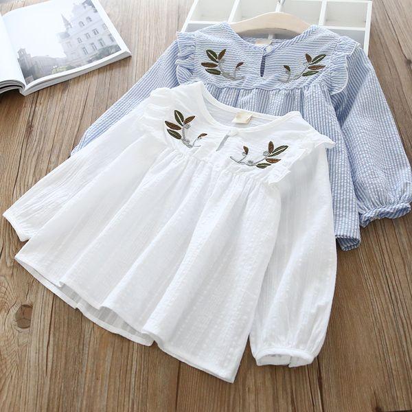 best selling Baby Girls Blouse Spring Autumn Kids Shirt toddler long seelve blouses children clothes Girl tops infant