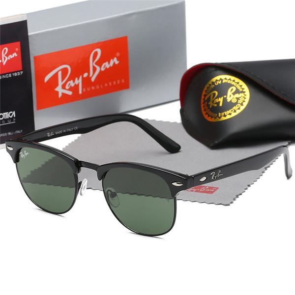 1 unids Nuevo Para Mujer Para Hombre Marca Gafas de Sol Evidencia gafas de sol Diseñador Pulido Negro Marco de Oro Gafas Gafas Ven Con Caja