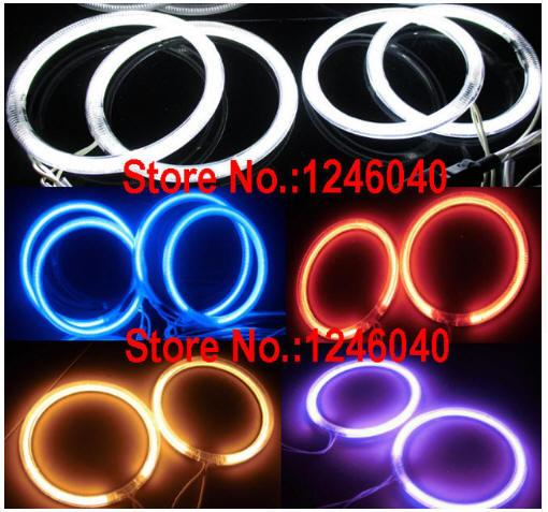 4PCS CCFL ange yeux halo anneaux avec 2pcs inverseurs pour voiture taille de moto 60/72/80/85/90/94/100/106/110/115/120/126/140 / 145MM